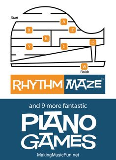 Ramp up the fun with 10 piano skill-building games that drill piano finger numbers, treble and bass clef note names, and basic rhythms. Music Theory Games, Music Theory Lessons, Music Theory Worksheets, Beginner Piano Lessons, Piano Lessons For Kids, Music Flashcards, Flashcards For Kids, Music For Kids, Games For Kids