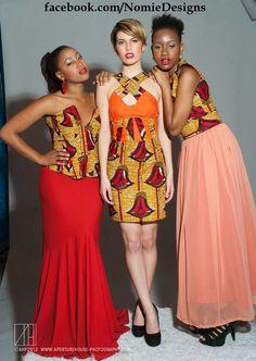 3 style variations for kitenge