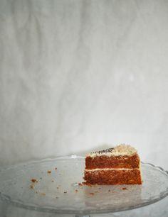Tarta de zanahoria con crema de queso y mandarina