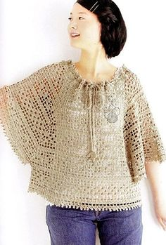 Poncho with loose sleeves, charted pattern, no curves!!!