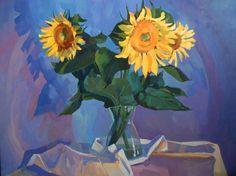"""Saatchi Art Artist Anastasia Yaroshevich; Painting, """"Sunflowers"""" #art"""