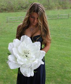 "Large paper Peonies - Oversized Flowers            Medium: 14"" Diameter, 38"" Stem $15 Large: 21"" Diameter, 50"" Stem $23"
