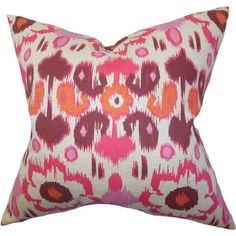 Cozy and colorful, this cotton pillow adds a vibrant touch to a neutral sofa or pairs with patterned bedding for a bright look. Pr...