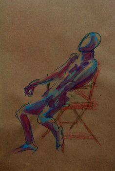 """€du∆rdo √.- crayon, watercolor, marker - """"he"""""""