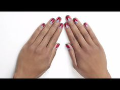 tribal french nail art tutorial by essie - http://www.nailtech6.com/tribal-french-nail-art-tutorial-by-essie/