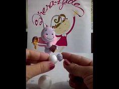 Borboletinha da galinha pintadinha de biscuit por Geovania Alves. - YouTube