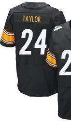 ... 78.00--Mens Nike Pittsburgh Steelers 24 Ike Taylor Elite Black Team  Color NFL ... 56aa7c142