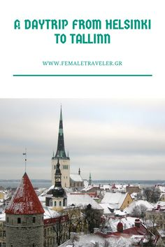A day trip from Helsinki to Tallinn *Translation button at the top*