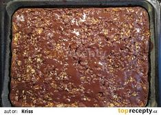 Dobrota z jablek a ořechů recept - TopRecepty.cz Sheet Pan, Banana Bread, Cake Recipes, Food And Drink, Cooking Recipes, Sweets, Kitchen, Desserts, Springform Pan
