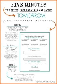 An Effective Planner for busy Moms. Simple, quick, and useful daily planner with Free Printable! Via View From The Fridge (personality list free printable) Planner Pages, Life Planner, Happy Planner, Printable Planner, Free Printables, Planner Template, Goals Printable, Free Daily Planner Printables, Daily Work Planner
