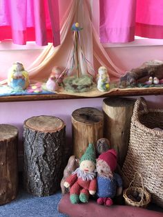 Waldorf Kindergarten, Nature Table, Tables, Deco, Projects, Kids, Autumn, Log Projects, Children