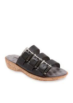 Softwalk Black Barts Sandal