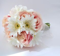 bridesmaid bouquet pale pink and white green - Google Search