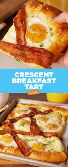 Breakfast for a crowd just got SO much easier thanks to this  Get the recipe at Delish.com. #brunch #breakfast #recipe #easyrecipe #eggs #bacon #cheese #vegan  #yolk #eggporn