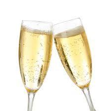 Champagne glazen + champagne