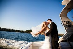 Lake of the Ozarks is the perfect destination for a wedding elopement. Beautiful scenery and easy atmosphere.                                 Photo: @kevinhulettphotography
