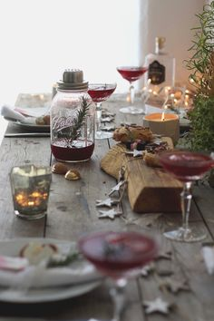 Beautiful Christmas table setting with pretty decorations.