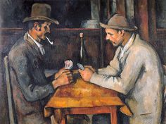 The Card Players by Paul Cezanne, a French post-impressionist painter who lived between 1839 and The Card Players is believed to be the most expensive painting ever sold and it was given to the Royal Family of Qatar for over 250 million dollars. Most Expensive Painting, Expensive Art, Willem De Kooning, Jean Michel Basquiat, Edouard Manet, Pierre Auguste Renoir, Paul Gauguin, Mark Rothko, Van Gogh