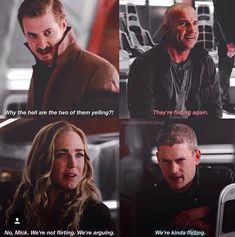 When Mick is the calm one. And Sara is being difficult. Legends Of Tommorow, Dc Legends Of Tomorrow, Dc Tv Shows, The Cw Shows, Marvel Vs, Marvel Dc Comics, Captain Canary, Flash Funny, Leonard Snart