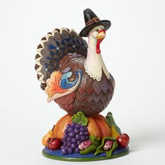 Jim Shore Heartwood Creek Turkey on Pumpkin Thanksgiving 4041155 Grateful Joyful | eBay