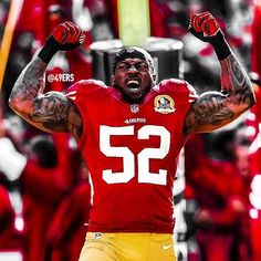 Patrick Willis - My Main Man Nfl 49ers, 49ers Fans, Nfl Football Teams, Football Helmets, Football Humor, Sports Teams, Forty Niners, Sf Niners, 49ers Players