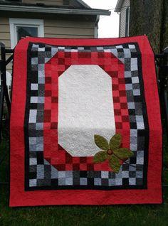OSU BUCKEYES Ohio State QUILT Twin Quilt by applevalleyprimitive