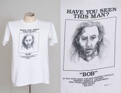 1990 Twin Peaks BOB 'Have You Seen This Man' Original TV Series Promo T Shirt by RoslynVTGTradingCo on Etsy https://www.etsy.com/listing/478828534/1990-twin-peaks-bob-have-you-seen-this