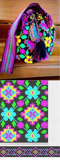 Crochet Bag Pattern Chart Cross Stitch 52 New Ideas Crochet Unicorn Blanket, Crochet Unicorn Pattern Free, Tapestry Crochet Patterns, Knitting Patterns, Crochet Shawl, Mochila Crochet, Tapestry Bag, Crochet Purses, Crochet Accessories