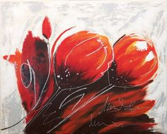 Coquelicot - peinture acrylique -