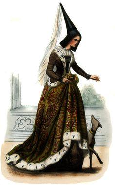 Margaret of York sister of Edward IV & Richard III of England, married Charles the Bold, Duke of Burgundy Renaissance Costume, Medieval Costume, Renaissance Fashion, Medieval Dress, Medieval Clothing, Historical Costume, Historical Clothing, 15th Century Fashion, 17th Century