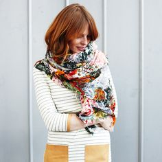 ginger hair, stripes + anthro scarf