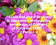 2 Peter 1:2 Grace and peace be yours in abundance ... - Google 搜尋 2 Peter, Abundance, Verses, Religion, Spirituality, Knowledge, Lord, Peace, Google