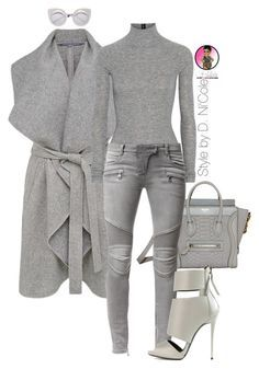 """""""Untitled #2717"""" by stylebydnicole ❤ liked on Polyvore featuring French Connection, T By Alexander Wang, Balmain and Giuseppe Zanotti"""