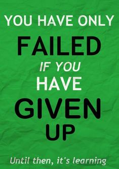 Don't worry about failing, just keep going forward and you'll never fail. #quote #recovery #sobriety #sober
