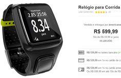 Relógio para Corrida Esportivo TomTom Runner << R$ 48599 >>