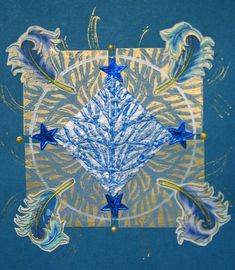 "Art collage, S.Ende-Saxe, ""Seasonal Blue"""