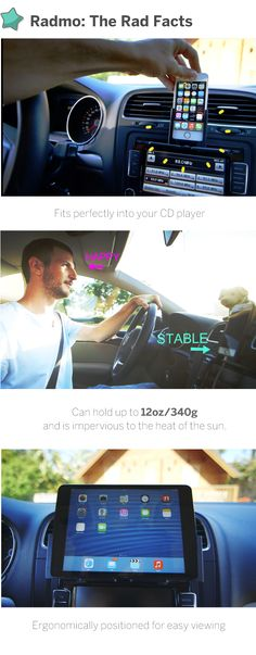 Radmo: The perfect mobile phone mount for your car | Indiegogo.