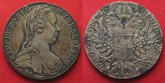 1865-1890 Haus Habsburg AUSTRIA Maria Theresa Thaler 1780 (Vienna 1865-90) silver aUNC!!! # 93996 AU