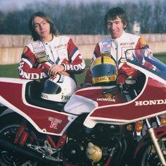 Ron Haslam, Joey Dunlop British Motorcycles, Racing Motorcycles, Honda Cb1100, Classic Bikes, Sports Stars, Road Racing, Motogp, Motorbikes, Pilot