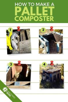 Pallets are easy to find and compost would be an amazing addition to your garden.