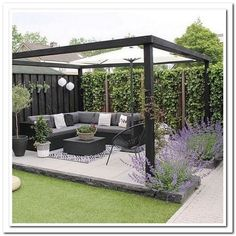 Amazing Modern Pergola Patio Ideas for Minimalist House. Many good homes of classical, modern, and minimalist designs add a modern pergola patio or canopy to beautify the home. In addition to the installa. Backyard Patio Designs, Small Backyard Landscaping, Diy Patio, Pergola Patio, Modern Pergola, Pergola Ideas, Small Backyard Design, Pergola Kits, Backyard Gazebo