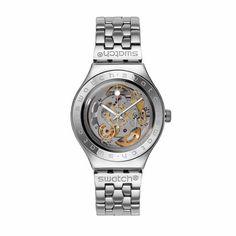 專櫃 Swatch斯沃琪 手表 2014全透明機械男表 骨幹 YAS100G-tmall.com天貓