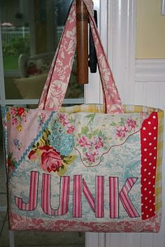 The Junk Bag by Jackie Clarkpattern at Shabby Fabrics