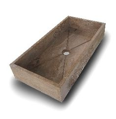 lavabo in travertino scuro, natural stone sink #lavello #pietra #sink #lavabo #stone . Acquista on-line su http://www.ilsassodicalamati.it/lavabo-in-travertino-serie-economica.html
