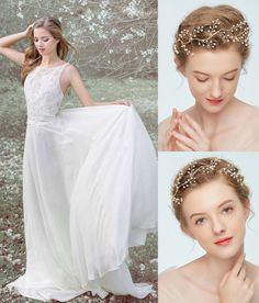 Shop affordable Western Style Crystal Headdress With Gold Wreath Hair Accessories at June Bridals! Over 8000 Chic wedding, bridesmaid, prom dresses & more are on hot sale. Wedding Accessories, Hair Accessories, Gold Wreath, Prom Dresses, Wedding Dresses, Chic Wedding, Headdress, One Shoulder Wedding Dress, Bridesmaid