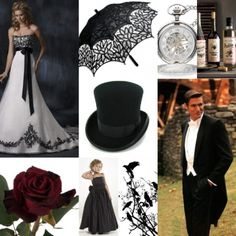 Victorian Wedding theme ideas. I love this, maybee for renewing vows 15 years from now? (;