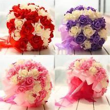 Bouquet Sposa Damigella Matrimoni Schiuma Foam Rose Fiori Decora Rosa Nozze