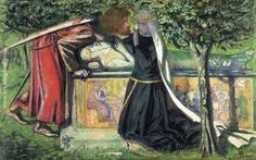 Arthur's Tomb: the last meeting of Lancelot and Guenievre (Dante Gabriel Rossetti)