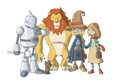 wizard of oz illustrations | Wizard of Oz characters by ganando-enemigos