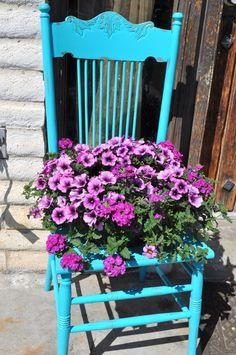 chair flower pot - Google Search